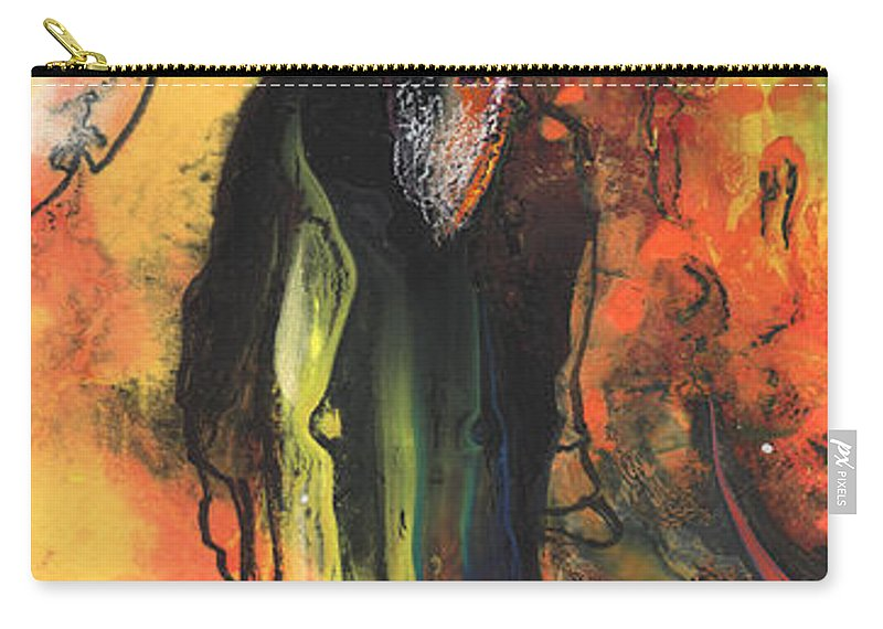 Travel Carry-all Pouch featuring the painting Old Man In Morocco by Miki De Goodaboom