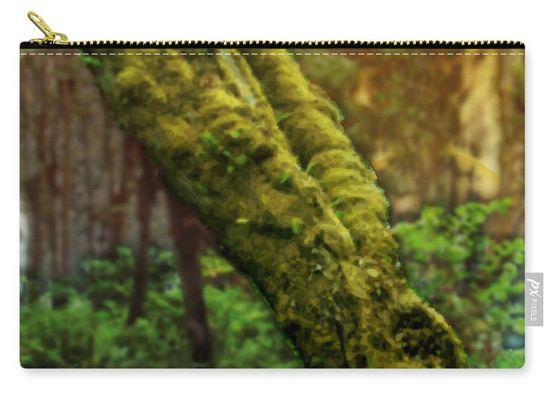 Abstract Carry-all Pouch featuring the digital art Old Man Of The Forest by James Kramer