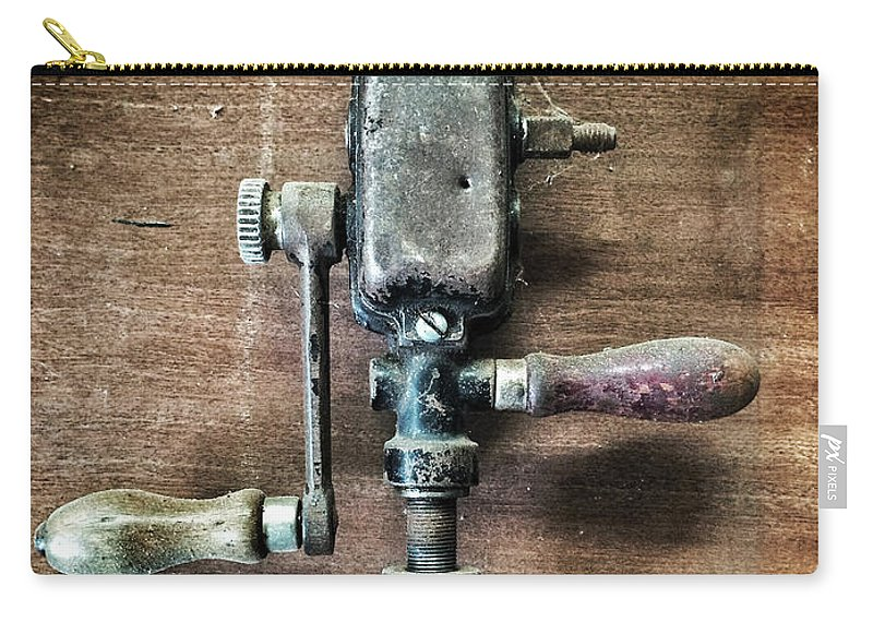 Drill Carry-all Pouch featuring the photograph Old Manual Drill by Carlos Caetano