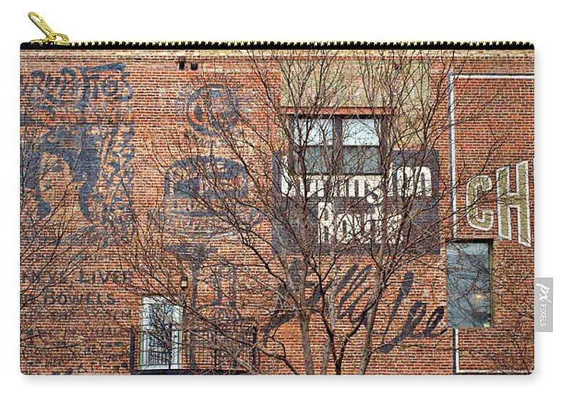 Omaha Carry-all Pouch featuring the photograph Old Market - Omaha - Metz Building - #1 by Nikolyn McDonald