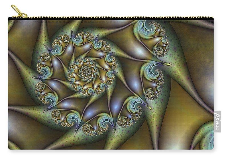 Digital Art Carry-all Pouch featuring the digital art Old Metal by Gabiw Art