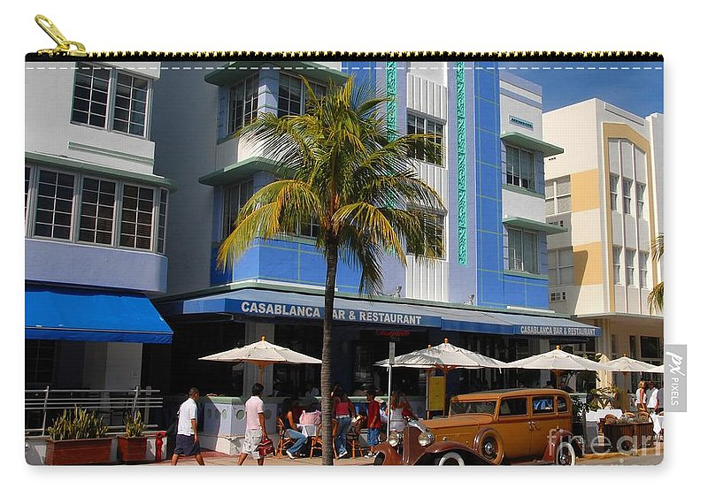 Miami Florida Carry-all Pouch featuring the photograph Old Miami by David Lee Thompson