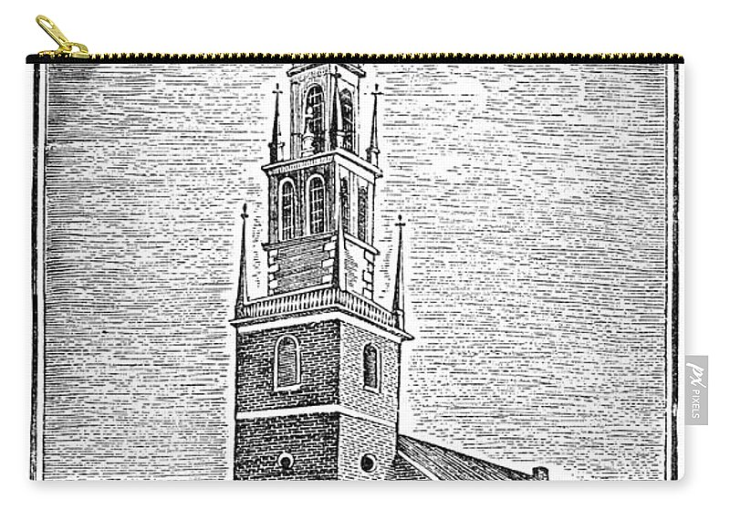 1775 Carry-all Pouch featuring the photograph Old North Church, 1775 by Granger
