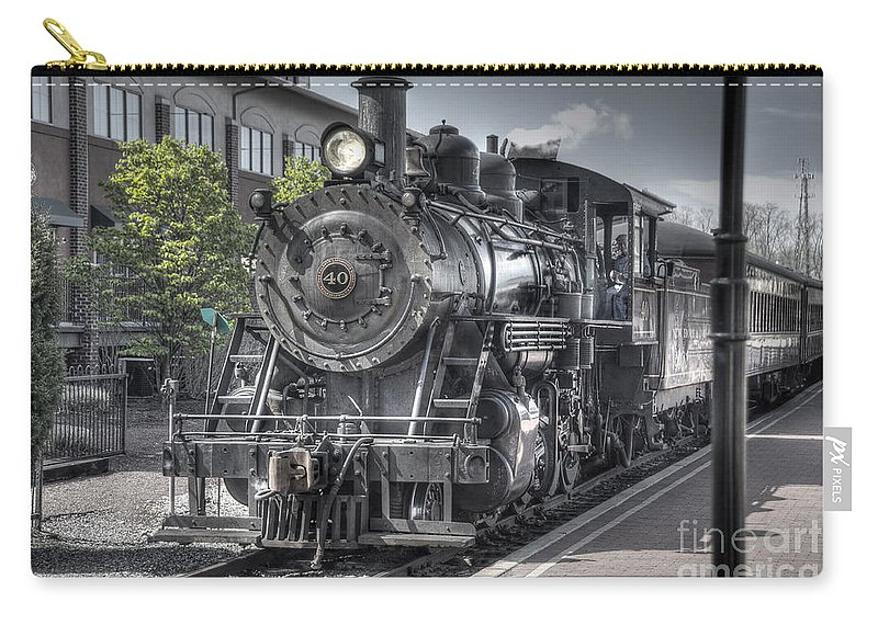 Train Carry-all Pouch featuring the photograph Old Number 40 by Anthony Sacco
