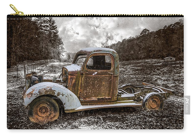 1940 Carry-all Pouch featuring the photograph Old Plymouth by Debra and Dave Vanderlaan