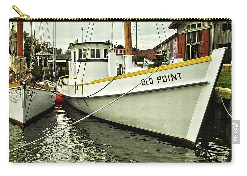 Maryland Carry-all Pouch featuring the photograph Old Point St. Michaels by Re Dub