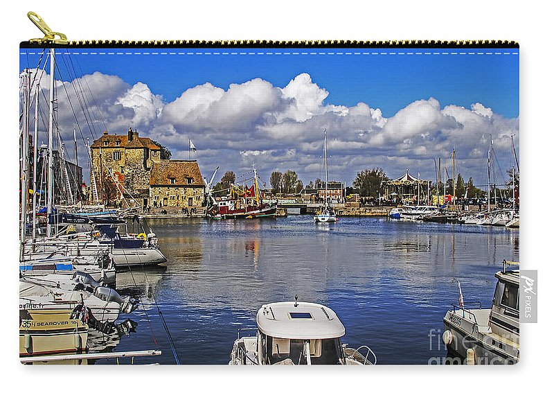 Travel Carry-all Pouch featuring the photograph Old Port Holiday by Elvis Vaughn