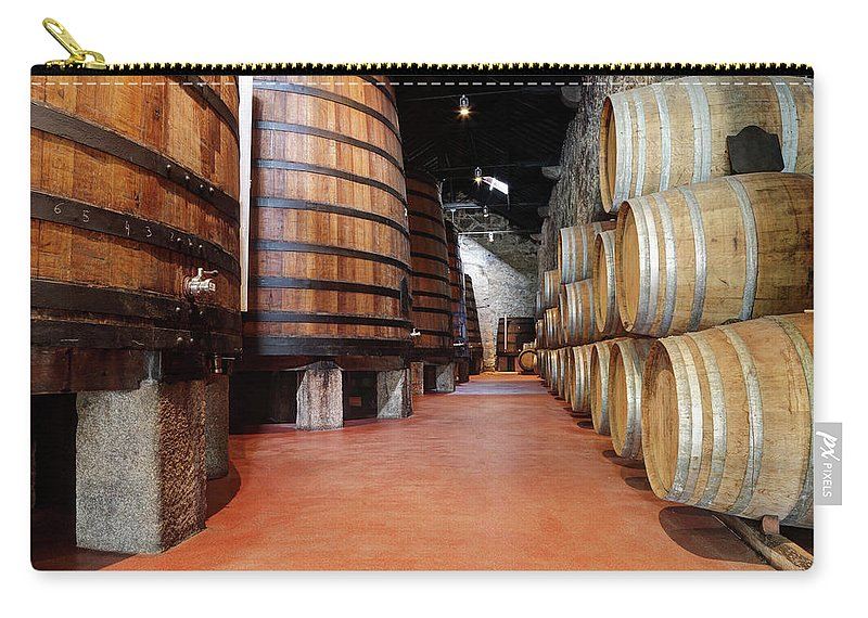 Fermenting Carry-all Pouch featuring the photograph Old Porto Wine Cellar by Vuk8691