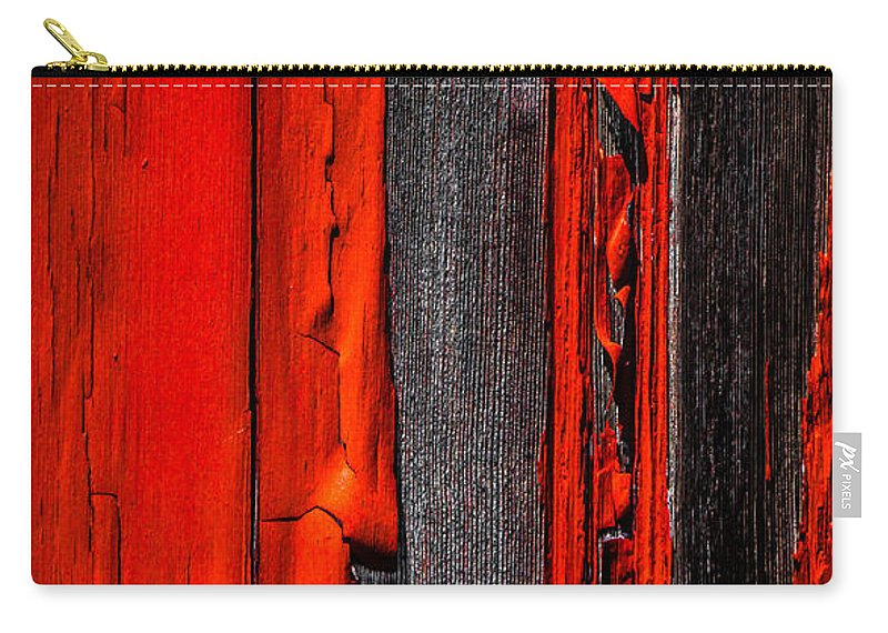 Abstract Carry-all Pouch featuring the photograph Old Red Barn Four by Bob Orsillo