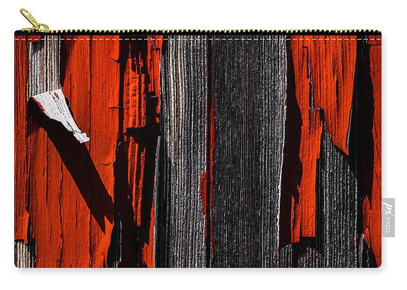 Abstract Carry-all Pouch featuring the photograph Old Red Barn Two 2 by Bob Orsillo
