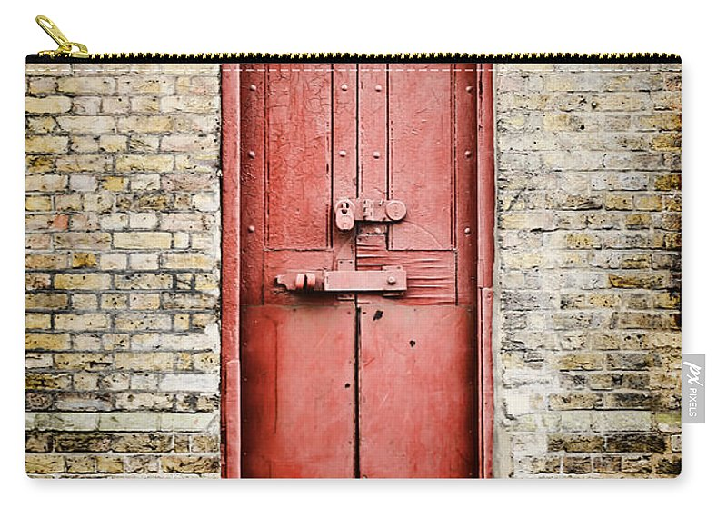 Charming Door Carry All Pouch Featuring The Photograph Old Red Door By Heather  Applegate