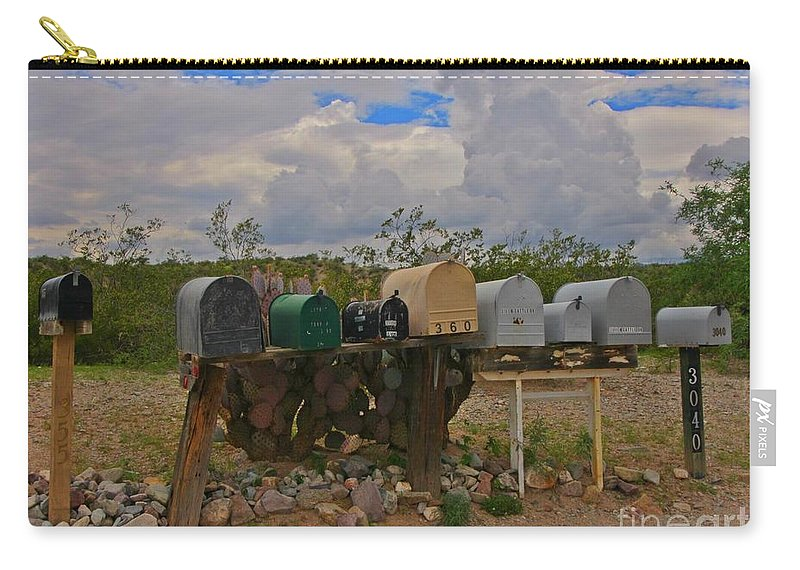 Americana Carry-all Pouch featuring the photograph Old Rural Route by John Malone
