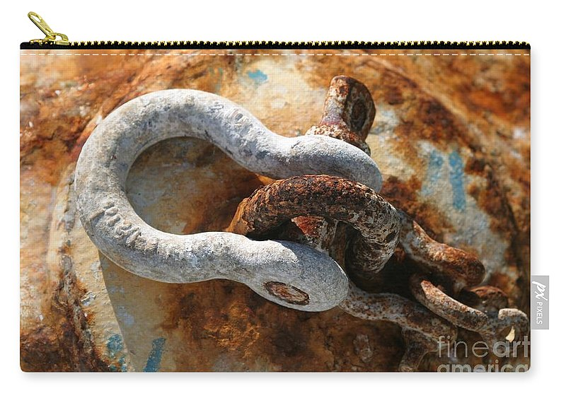 Buoy Carry-all Pouch featuring the photograph Old Rusty Buoy by Henrik Lehnerer