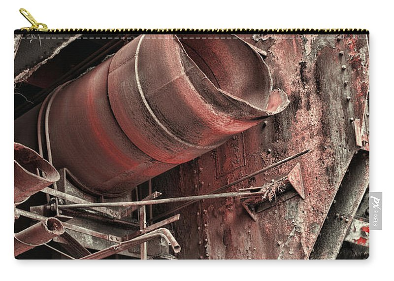 Paul Ward Carry-all Pouch featuring the photograph Old Rusty Pipes by Paul Ward