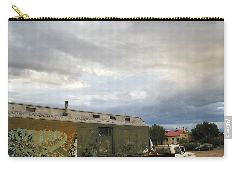 Railyard Carry-all Pouch featuring the photograph Old Santa Fe Railyard by Kathleen Grace