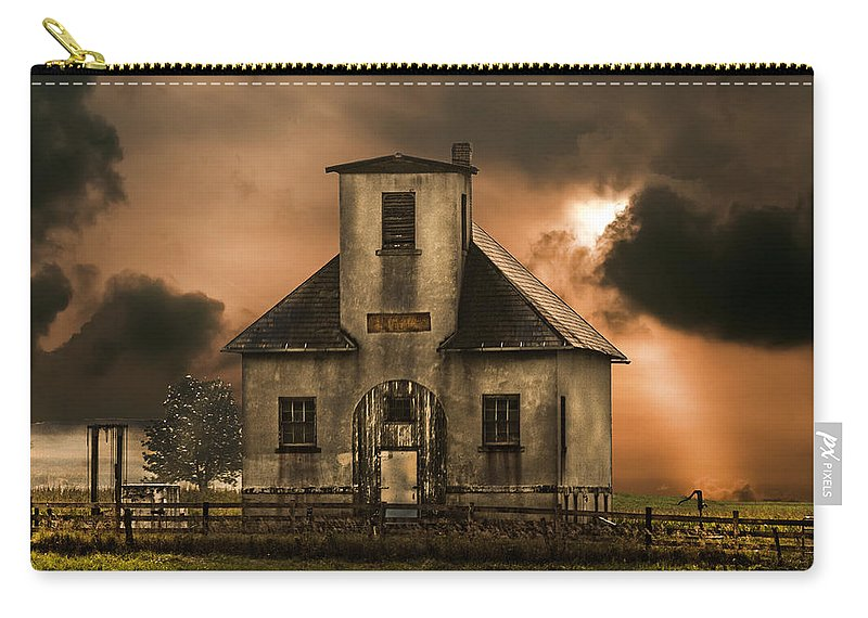 Old School Wayne County Carry-all Pouch featuring the photograph Old School Wayne County Oh by Randall Branham