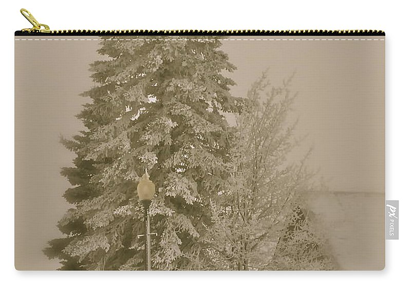 Winter Carry-all Pouch featuring the photograph Old School Winter by Rick Monyahan