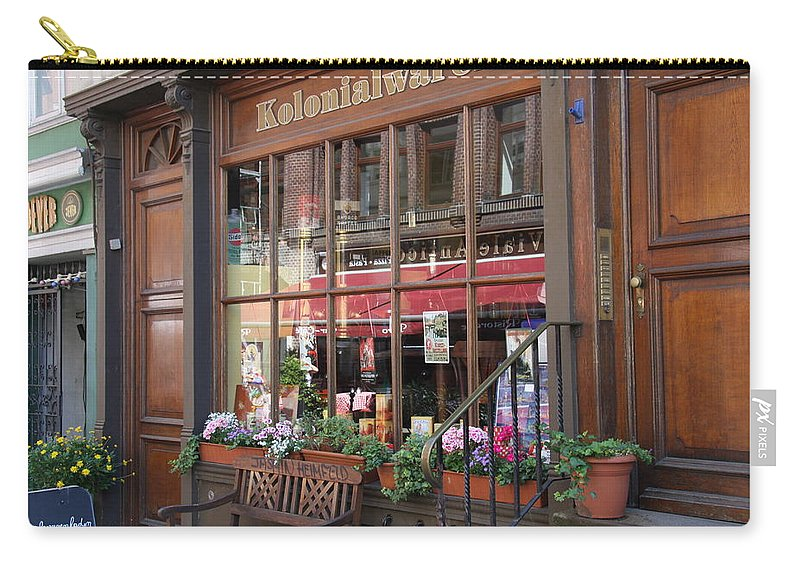 Hamburg Carry-all Pouch featuring the photograph Old Shop Hamburg by Christiane Schulze Art And Photography