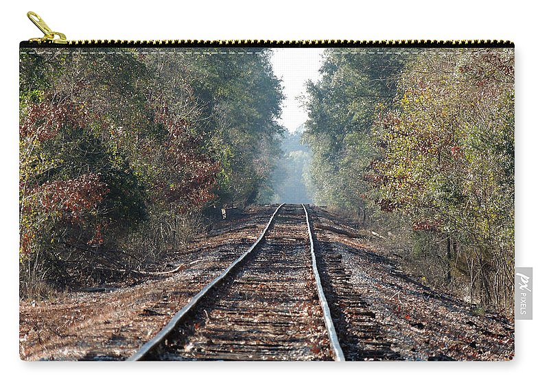 Old Southern Tracks Carry-all Pouch featuring the photograph Old Southern Tracks by Kim Pate