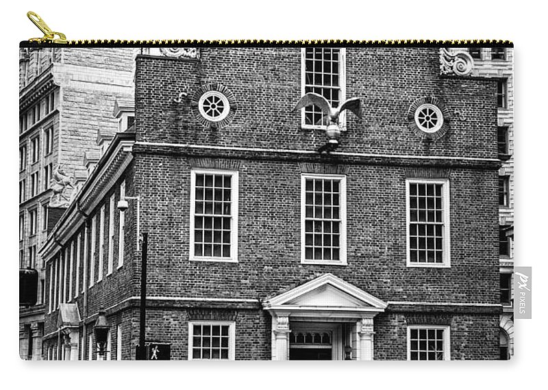 Old State House In Boston Carry-all Pouch featuring the photograph Old State House In Boston by Boris Mordukhayev