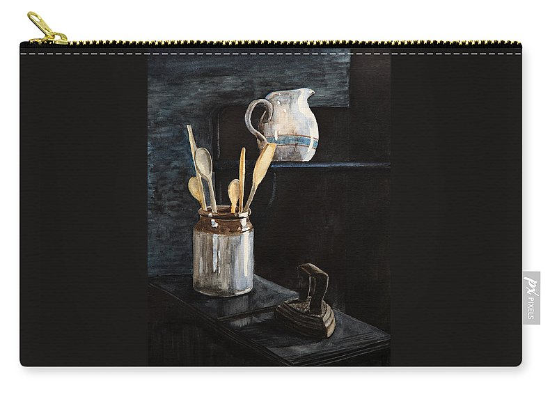 Kitchen Carry-all Pouch featuring the painting Old Still Life by Masha Batkova
