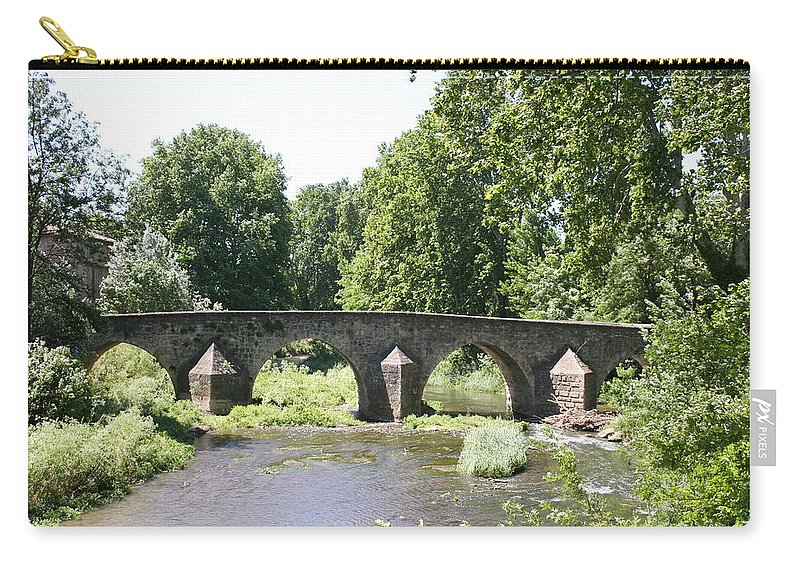 Stone Arch Bridge Carry-all Pouch featuring the photograph Old Stone Arch Bridge by Christiane Schulze Art And Photography