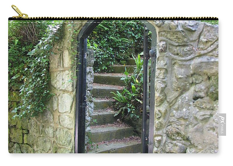 Stone Carry-all Pouch featuring the photograph Old Stone Gate by Carla Parris
