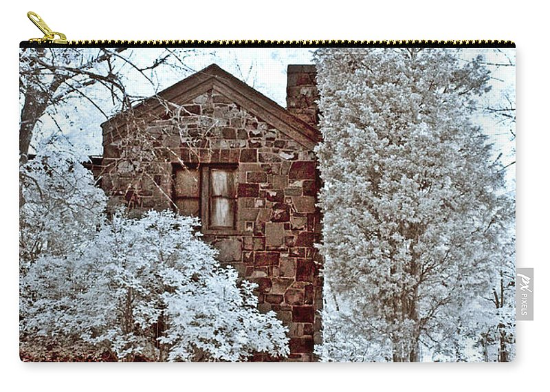 Trees Carry-all Pouch featuring the photograph Old Stone House by Anthony Sacco