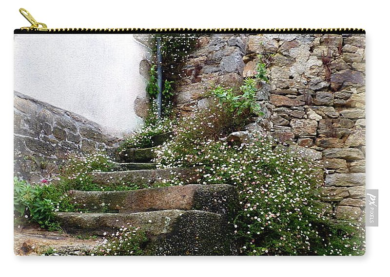 Stone Carry-all Pouch featuring the photograph Old Stone Steps by Carla Parris