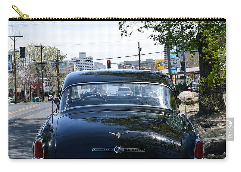 Car Carry-all Pouch featuring the photograph Old Studebaker by Brent Dolliver