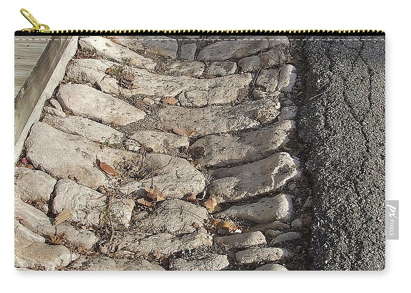 Old Streets Carry-all Pouch featuring the photograph Old Style Gutter by Susan Wyman