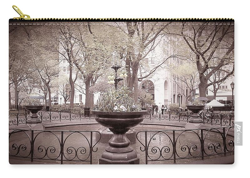Madison Square Park Carry-all Pouch featuring the photograph Old Time Fountain by Catie Canetti