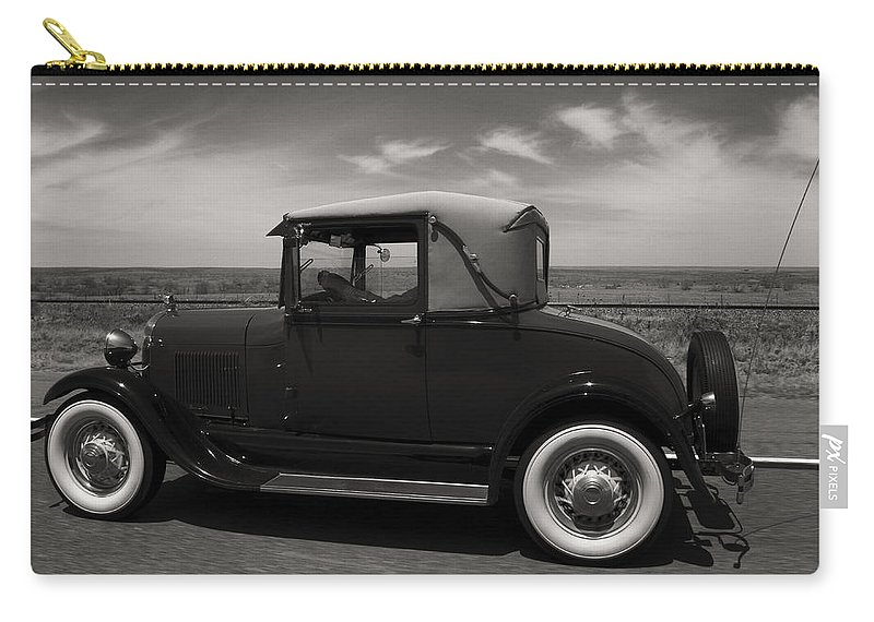 Automobile Carry-all Pouch featuring the photograph Old Timer by Debby Richards