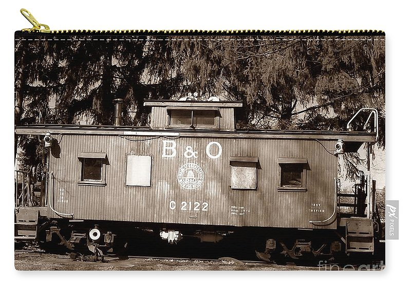 Train Carry-all Pouch featuring the photograph Old Timer by Sara Raber