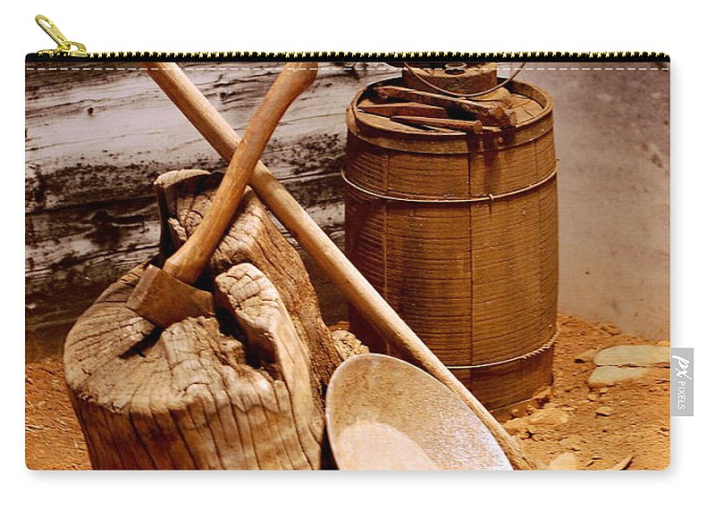 Still Life Carry-all Pouch featuring the photograph Old Tools by AJ Schibig