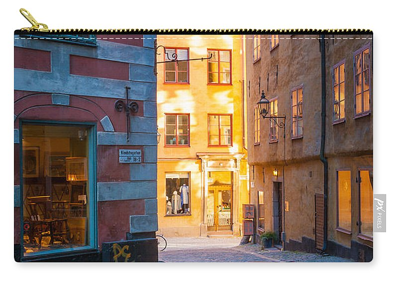 Europe Carry-all Pouch featuring the photograph Old Town Alley by Inge Johnsson