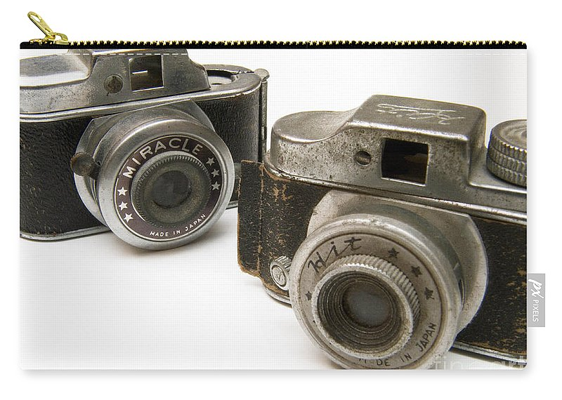 Antique Carry-all Pouch featuring the photograph Old Toy Cameras by Amy Cicconi