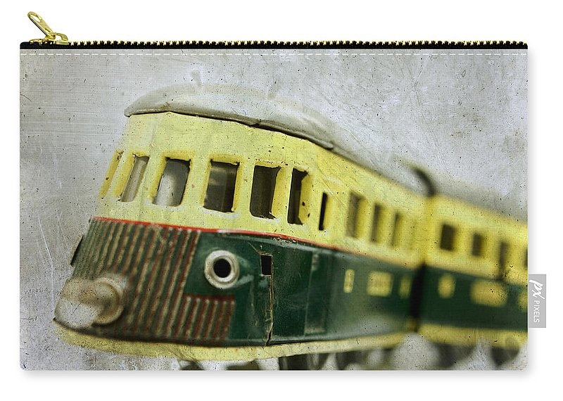Vintage Carry-all Pouch featuring the photograph Old Toy-train by Bernard Jaubert