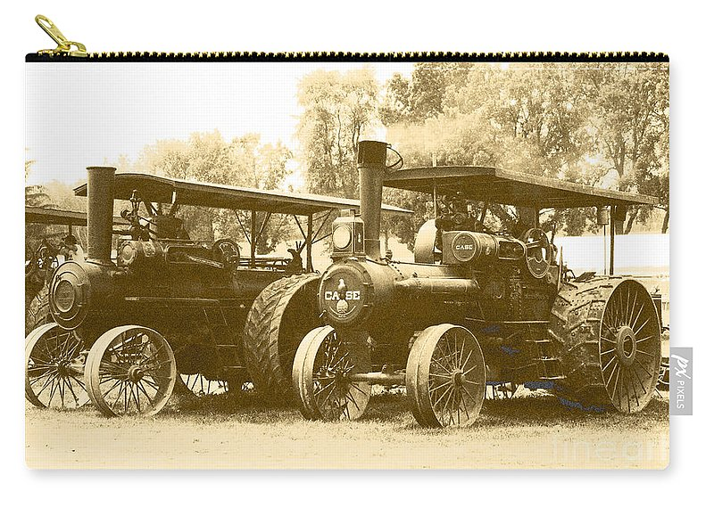 Carry-all Pouch featuring the photograph Old Tractors by Debbie Hart