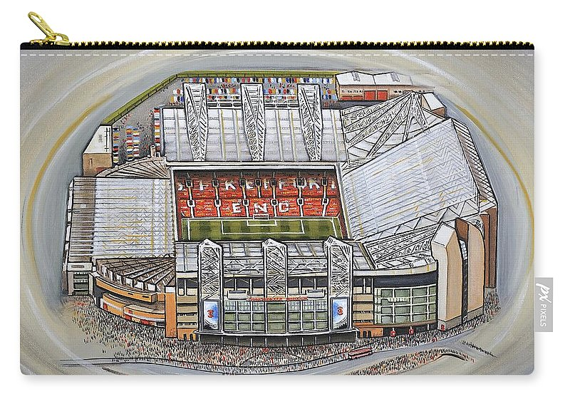 cb9662f19 Canvas Carry-all Pouch featuring the painting Old Trafford - Manchester  United by D J Rogers