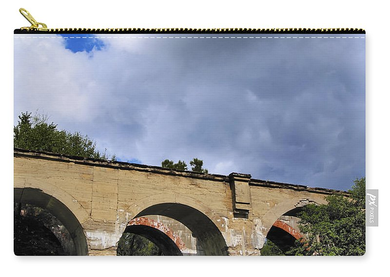 Summer Carry-all Pouch featuring the photograph Old Train Viaduct In Poland by Karol Kozlowski