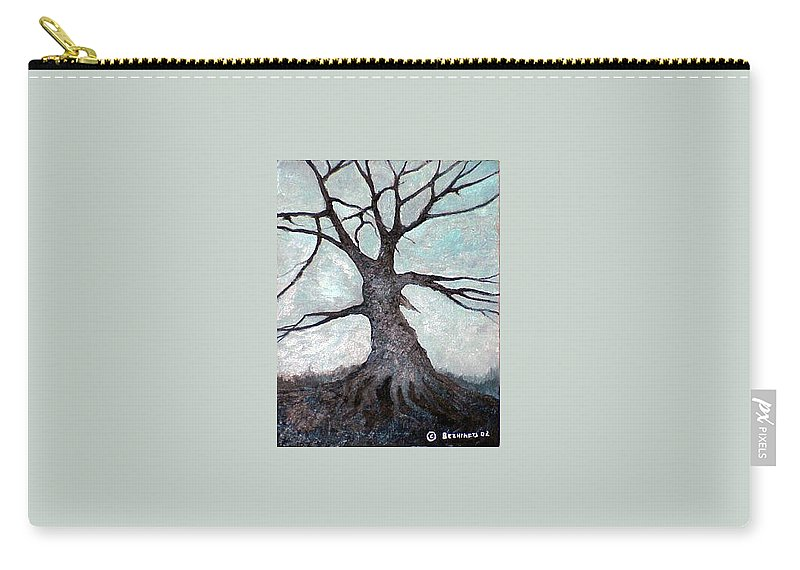 Landscape Carry-all Pouch featuring the painting Old Tree by Sergey Bezhinets