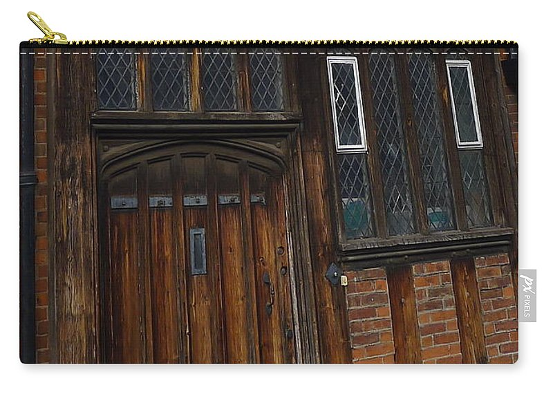 Stratford-upon-avon Carry-all Pouch featuring the photograph Old Tudor Doorway by Denise Mazzocco