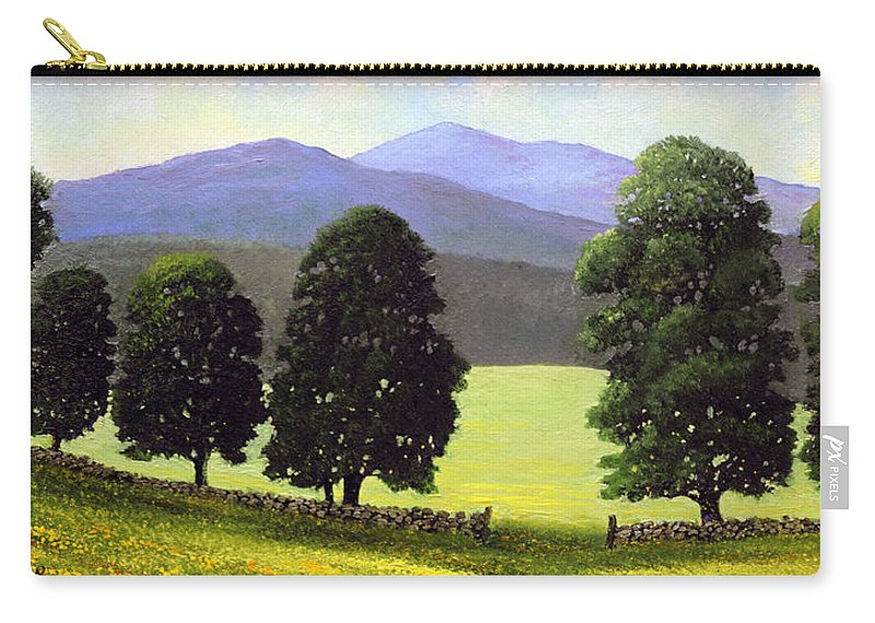 Landscape Carry-all Pouch featuring the painting Old Wall Old Maples by Frank Wilson