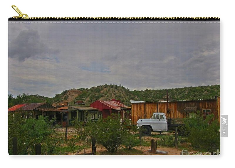 Old Western Backyard Carry-all Pouch featuring the photograph Old Western Backyard by John Malone