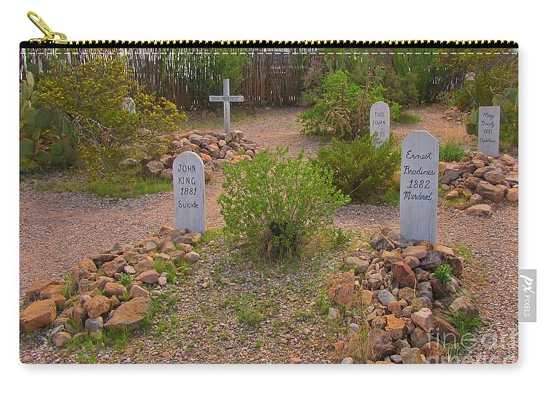 Old Western Gravesite Carry-all Pouch featuring the photograph Old Western Gravesite by John Malone