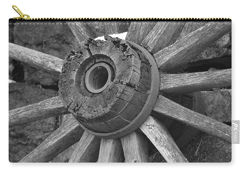 Wagon Carry-all Pouch featuring the photograph Old Wheel by Trish Tritz