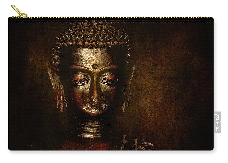 Festblues Carry-all Pouch featuring the photograph Old Wisdom... by Nina Stavlund