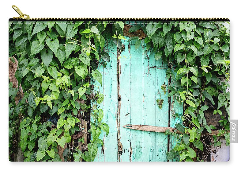 Outdoors Carry-all Pouch featuring the photograph Old Wooden Door by Real444