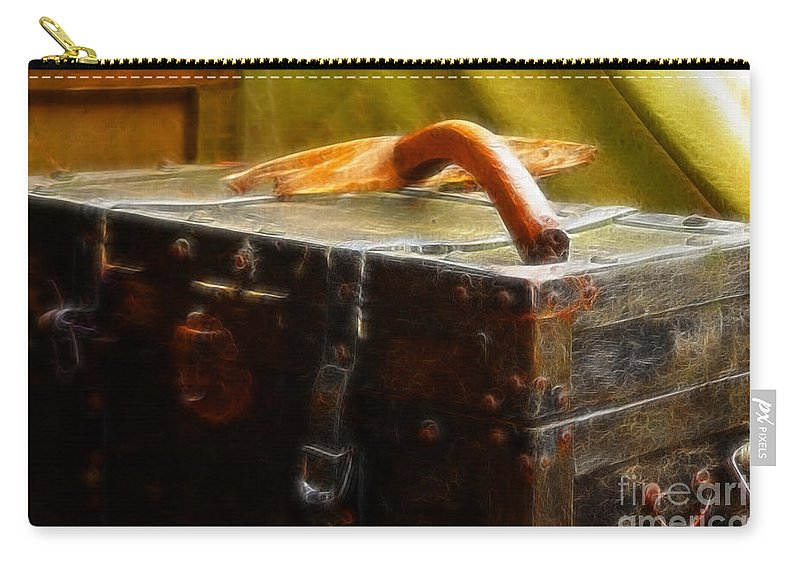 Luggage Carry-all Pouch featuring the photograph Olde Suit Case by Doc Braham